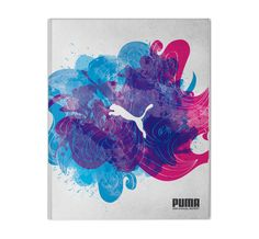 2008 Annual Report designed by Erwin Hines. The interaction between the colors running into each other and mixing energizes the scene to convey the nature of the athletic Puma brand.