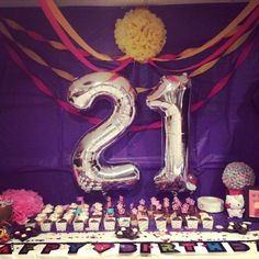 21st birthday decorations!