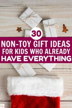 Non-toy gift ideas for kids who already have everything. Remember that experiences and time together is more important than expensive things. Teach your kids this valuable lesson this holiday season. #gifts #experiences #kids #value #family #holidays