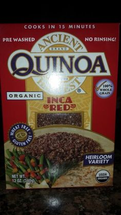 For rice lovers. Replace regular rice for Quinoa. Great source of Protein, Iron, Phosphorous, fiber,& riboflavin. Taste like rice, but its actually good for you!!