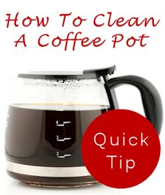How to clean a coffee pot