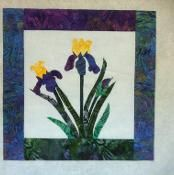 Bearded Iris Mini Quilt - via @Craftsy So cute!