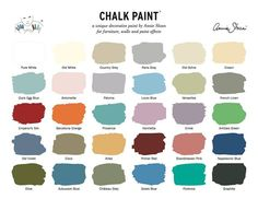 Annie Sloane chalk paint palette. (This paint is expensive...& they make it seem easy on tutorials but it's quite a process!)