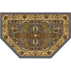 Home Dynamix Brussels Blue And Ivory Hexagonal Indoor Woven Throw Rug