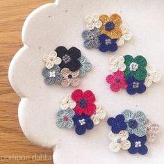 손뜨개브로치 아이디어 대방출~!! [코바늘] : 네이버 블로그 Crochet Brooch, Crochet Motif, Crochet Doilies, Crochet Hooks, Knit Crochet, Crochet Earrings, Crochet Butterfly, Crochet Flowers, Knitting Patterns