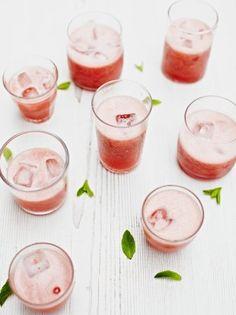 Strawberry slushie A fresh fruity soft drink