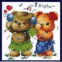 Схема вышивки крестом  «Aloha»