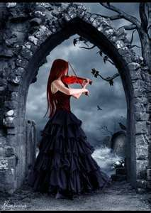 Red Violin in My Softer side Grey