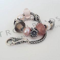 All the quartz. Smoky, Rose and Strawberry 🌹🍓 Bangles, Beaded Bracelets, Charm Bracelets, Jewelry Companies, Smoky Quartz, Personalized Jewelry, Rose Quartz, Jewelry Box, Jewellery
