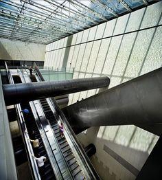 Escalators in Bras Basah MRT Station, Singapore - WOHA - Wikipedia, the free encyclopedia