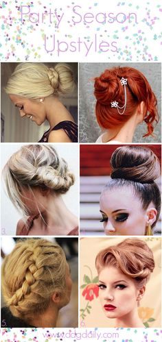 NYE upstyle ideas: A DDG Moodboard full of party season hair inspo - dropdeadgorgeousdaily.com