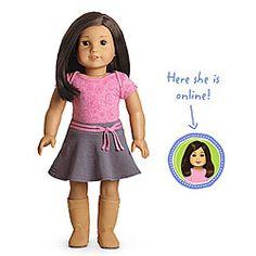American Girl® Dolls: Light skin, short dark brown hair, brown eyes Ella bday