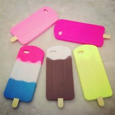 Iphone 6, Iphone Cases, Silicone Phone Case, Popsicles, Usb Flash Drive, Cover, Pink, Ice Cream, Sweet