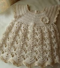 Crochet patterns free: Lovely Crochet Dress Model Baby