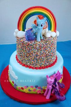 My Little Pony Cake With Sprinkles Little Girl Inspired