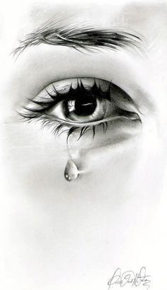 Teardrop falls down from her eyes...The day he said goodbye .. By Omar Gordillo