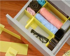 Grid Drawer Divider Organizer Closet Drawers Storage | eBay