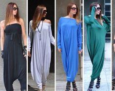 New Summer Colection Black Jumpsuit / Cotton Union Suit / Abito jumpsuit grandi taglie / Drop Crotch Harem Pants by EUGfashion