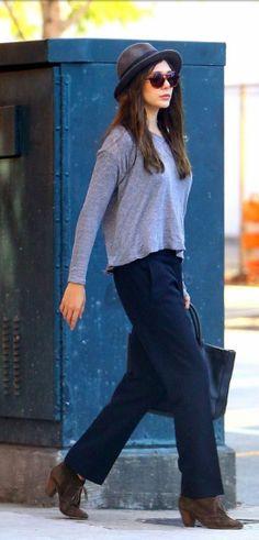 Elizabeth Olsen. I love this outfit.