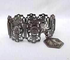 Paris souvenir bracelet Paris monuments marked Filigrane Depose by MaisonMaudie, $48.00