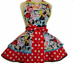 FREE US Shipping  Shut Up And Kiss Me Diner/Pinup Valentine Apron