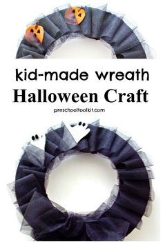 Make this very un-scary wreath for an awesome Halloween decoration. Simply recycle some cardboard for a wreath that's easy to make and fun to display for Halloween. #halloween #diy