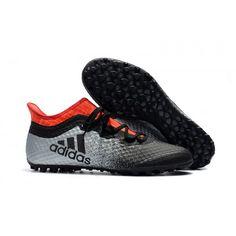 Adidas X Tango 16-1 TF Botas De Futbol Gris Negro Naranja dceffd46499b1