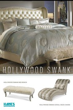 Hollywood S Creamy Pearl Queen Bed