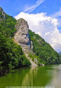 King's Decebal Statue, Danube River, Orsova, Romania Vacation Places, Places To Travel, Places To See, Places Around The World, Around The Worlds, Beautiful World, Beautiful Places, Danube River Cruise, Visit Romania