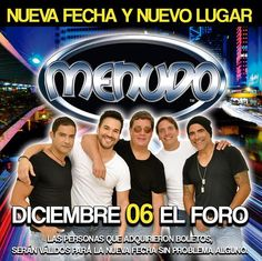 Menudo en Tijuana!  info http://tjev.mx/1HzJsT5 #Conciertos más info en http://tjev.mx/9jUxqh