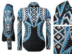 Black, Caribbean-Blue, White & Silver Jacket