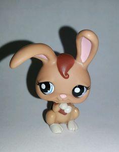 Littlest Pet Shop Brown Bunny Rabbit Blue Eyes #1766 Preowned LPS in Toys & Hobbies, Preschool Toys & Pretend Play, Littlest Pet Shop   eBay