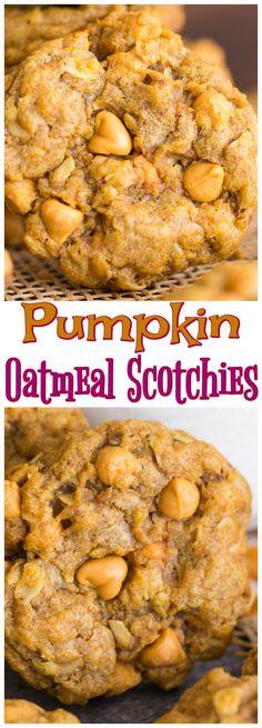 Pumpkin Oatmeal Scotchies recipe image thegoldlininggirl.com pin