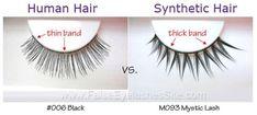 Human Hair Eyelashes vs. Synthetic Hair Eyelashes