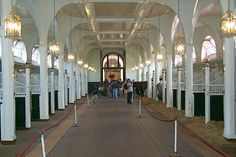 Inside the Royal Mews. London, England. These are sure some fancy stables!