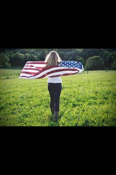 American flag senior pictures everything girl senior picture