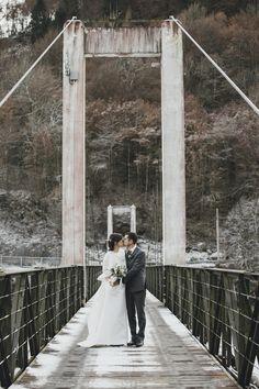 winter mountainside wedding