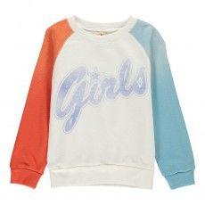 "Sweat Tricolore ""Girls"" Anzy Blanc"