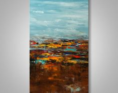 Abstract Wall Art Abstract Landscape Abstract Painting by Catalin Abstract Painting Techniques, Seascape Paintings, Landscape Paintings, Art Paintings, Easy Abstract Art, Abstract Wall Art, Abstract Landscape, Large Painting, Texture Painting