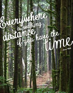 everywhere is walking distance if you have the time