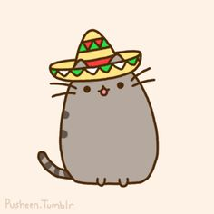 Pusheen the cat * ¡Nyan Cat (arriba)! O____o ...
