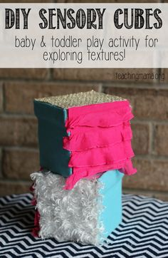 DIY Sensory Cube - Make a sensory cube for your baby or toddler to explore textures and colors!