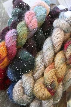 Beautiful Artyarns Beaded Silk Mohair Yarn in a silk mohair blend with glass beads. Fabulous for shawls, wraps and scarfs, and great as a knit along with other wonderful artyarns to make fantastic knitting projects! Yarn Thread, Yarn Stash, Mohair Yarn, Wool Yarn, Crochet Yarn, Knitting Yarn, Knitting Ideas, Online Yarn Store, Yarn Inspiration