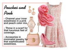 Designer Clothes, Shoes & Bags for Women Peach Colors, Peaches, Color Mixing, Style Ideas, Scarves, Michael Kors, Shoe Bag, Luxury, Clothing
