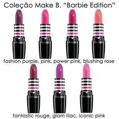 Coleção Make B. Barbie Edition por O Boticário                                                                                                                                                                                 Mais