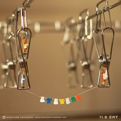 """MINIATURE CALENDAR"" Laundry by Tanaka Tatsuya"