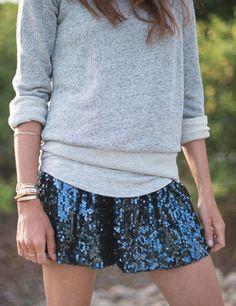 sweatshirt + sequins
