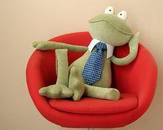 Moss Green Giant Frog stuffed plush toy