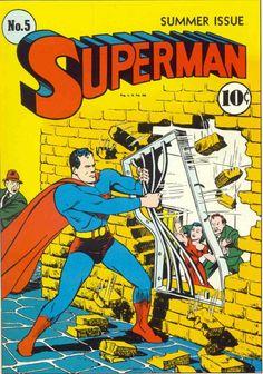 Superman Golden Age Superhero Comics Not Signed Superman Comic Books, Dc Comic Books, Vintage Comic Books, Batman And Superman, Comic Book Artists, Comic Book Covers, Comic Book Characters, Vintage Comics, Comic Character