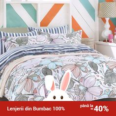 Lenjerie de pat din bumbac Valentini Bianco TB010/59 Comforters, Blanket, Bed, Creature Comforts, Quilts, Stream Bed, Rug, Blankets, Beds
